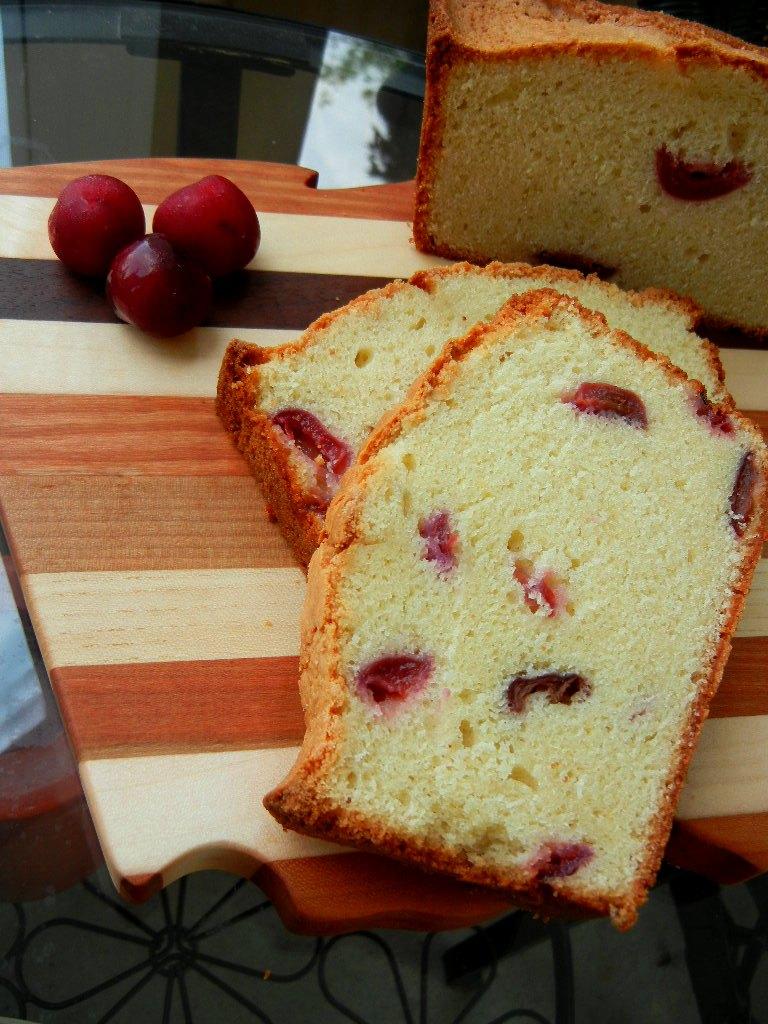 Fresh Cherry Pound Cake Loaf